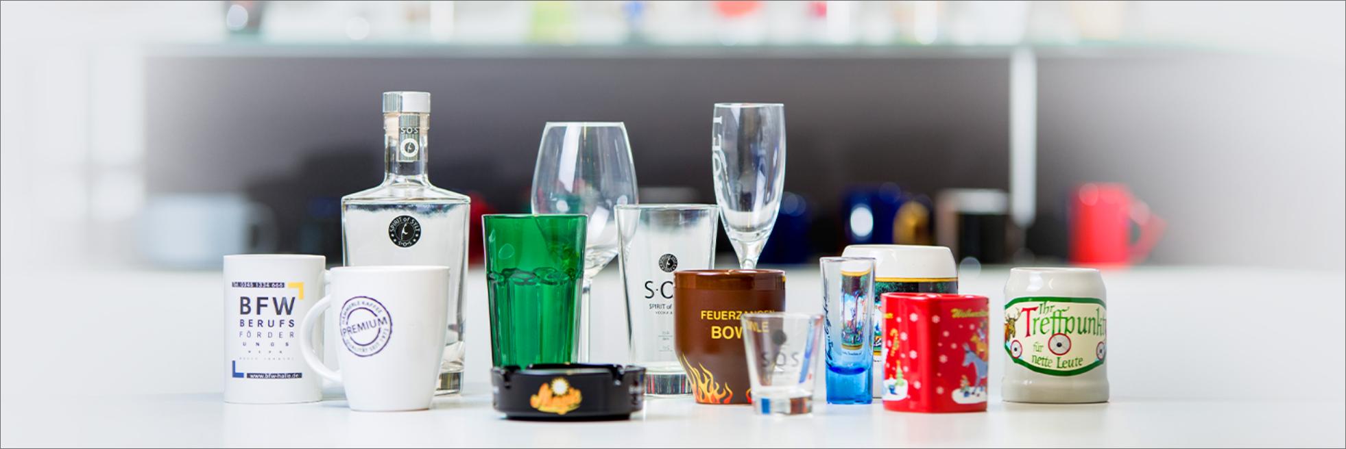 Produktdesign, Glas Design, Gläser bedrucken, Gläser Druck