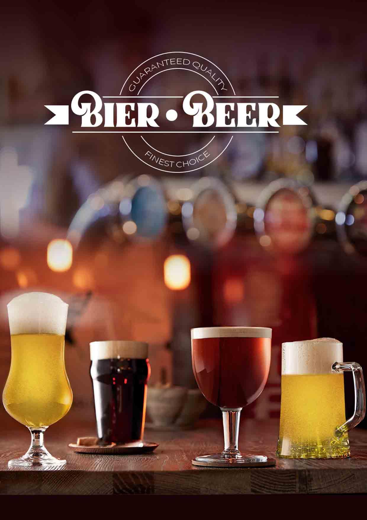 Bierglas, Biergläser, bedruckte Biergläser