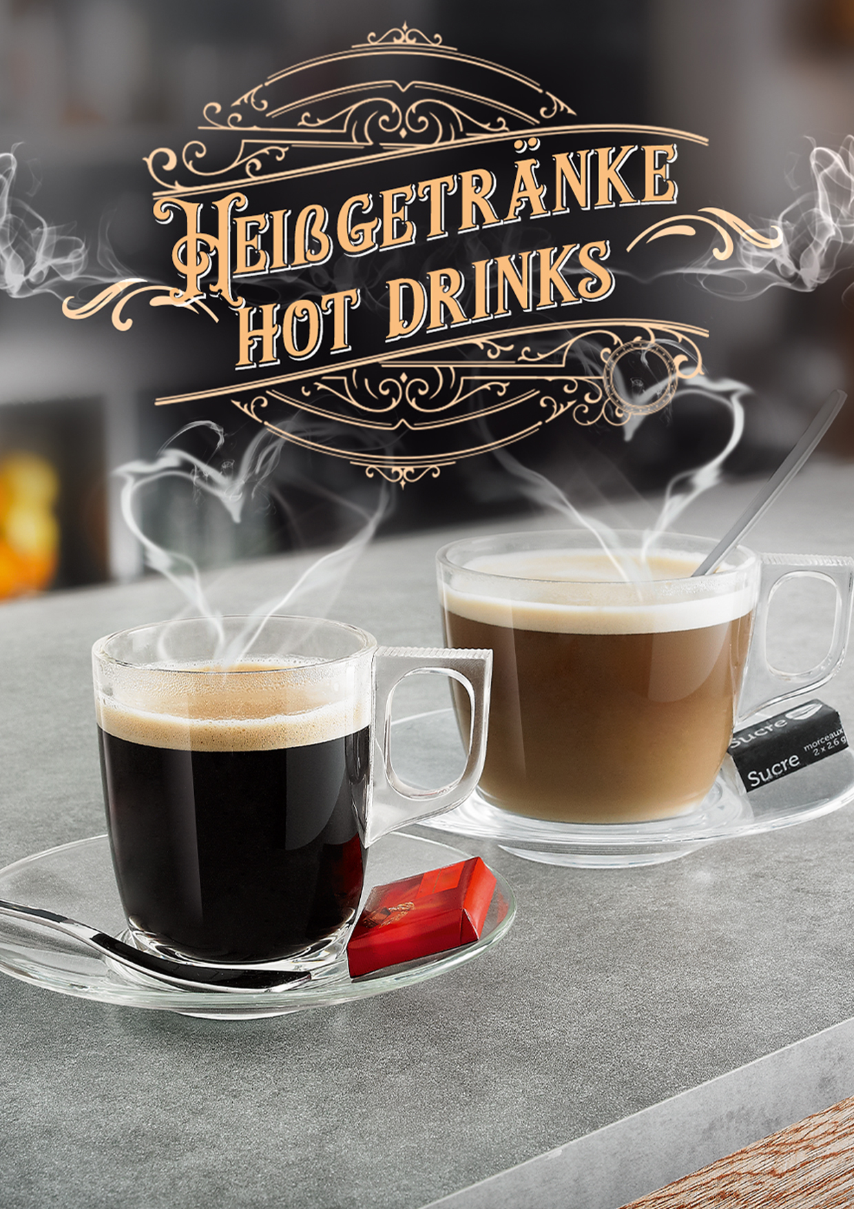 Tassen, Glastassen, Kaffeebecher