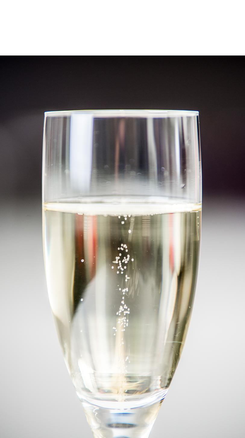 Moussierpunkt, Champagnerglas