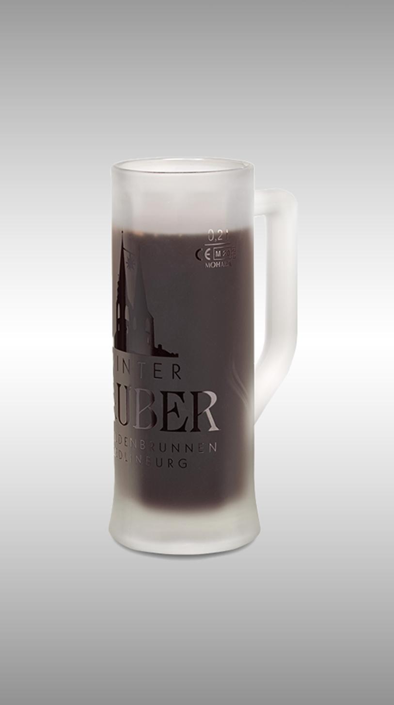 Bierglas, bedruckte Biergläser