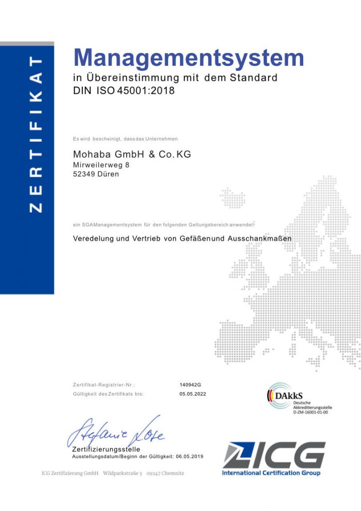 Managementsystem Zertifikat